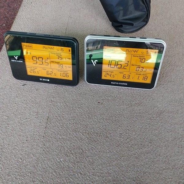 sc300とsc300iを並べて計測