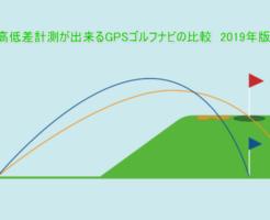 高低差計測が出来るGPSゴルフナビの比較 2019年版