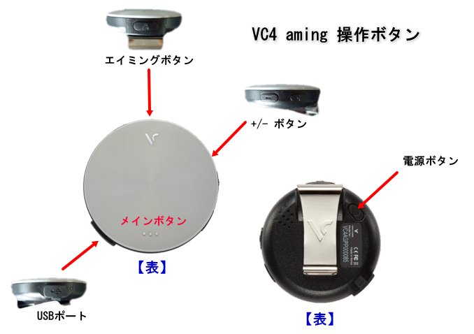 ボイスキャディ VC4 の操作ボタン