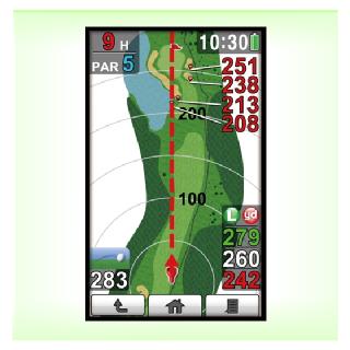 コースレイアウト表示タイプのGPSゴルフナビ