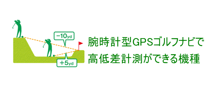 腕時計型GPSゴルフナビで高低差計測ができる機種 2019年版